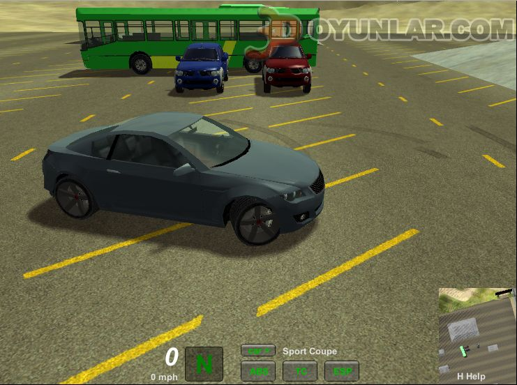 3D araba simülasyonu oyunu